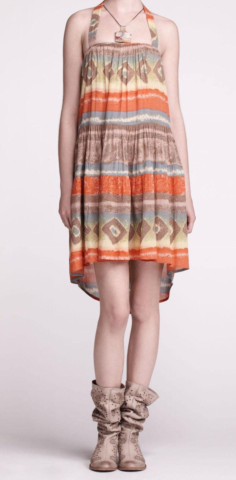 Maple Topock Halter Dress Größe XS, M, L Orange Farbe NW ANTHROPOLOGIE Tag