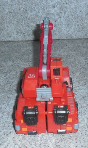 Transformers Robots in Disguise Hightower Rid 2001 Red Crane Décharge