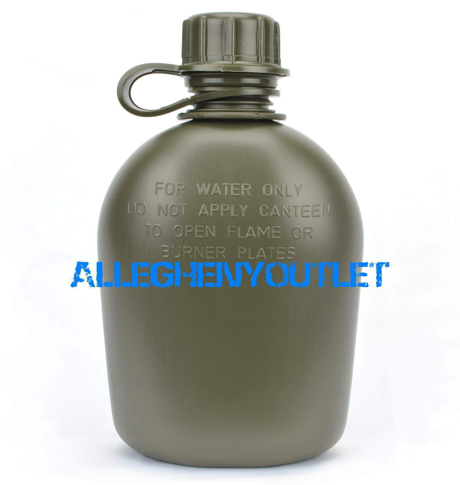 US Plastic Canteen with Cover 1 Litre Drinking Bottle outdoorflasche Black