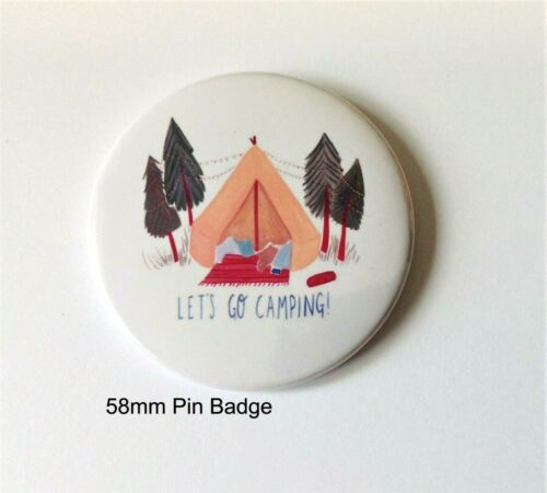 58mm Camp Camping Pin Button Badge Birthday Party Bag Filler Gift