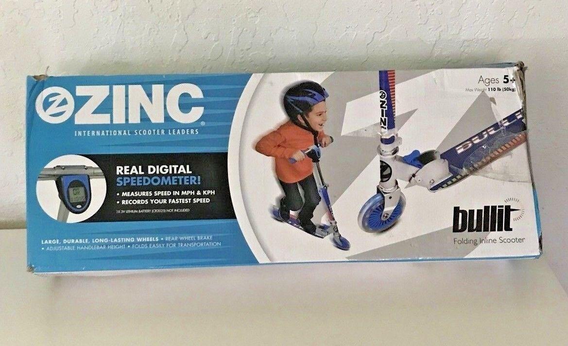 Zinc Bullitt Folding Inline Scooter With Speedometer