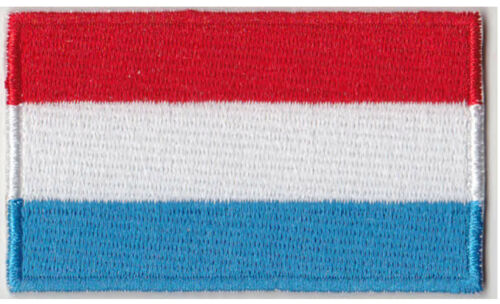 "Flag of Luxembourg Iron On Patch 2 1//2/"" x 1 1//2/"" Free Shipping by Envelope Mail"