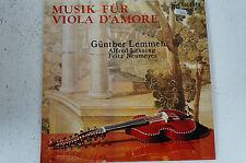 Musik für Viola d'Amore Günther Lemmen Alfred Lessing Fritz Neumeyer (LP12)
