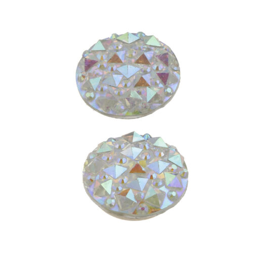 2 Pairs Magnetic Scarf Buckle Clips Round Crystal Brooch Clasp Muslim Pins