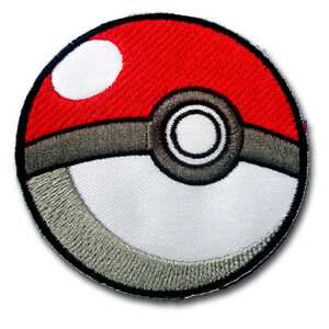 868b945a855 Image is loading Poke-Ball-Pokemon-Patch-Embroidered-Iron-on-Pikachu-