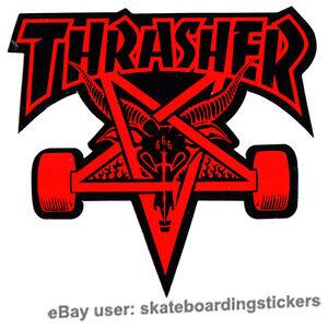 c934b4271b56 Image is loading Thrasher-Magazine-Skate-Goat-Pentagram-Skateboard-Sticker- skate-