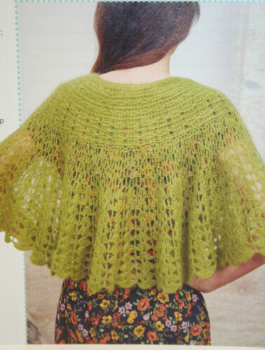 Ladies Lacy Capes Knitting and Crochet Pattern