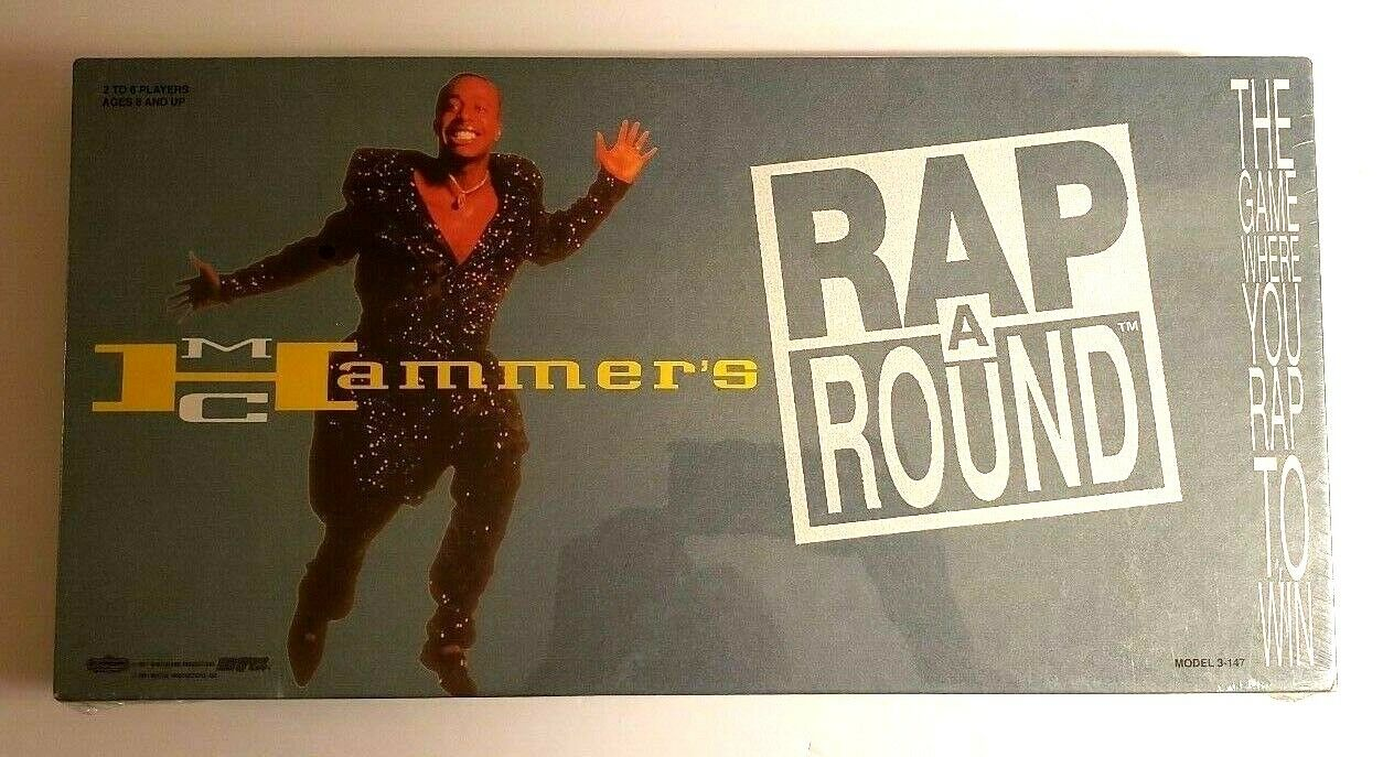 McDonald Hammer's rap un tour Board Game Tiger 1991 NEW FACTORY SEALED