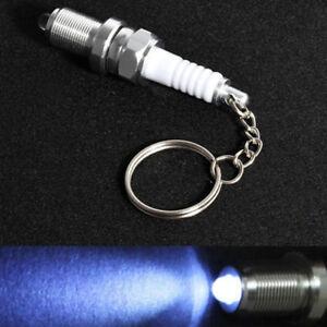 Fashion Car Accessories LED Key Chain Spark Plug Key Chain Keychain Car Keyring