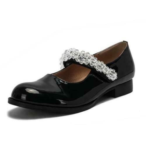 Details about  /Womens Chunky Low Heel Round Toe Ankle Strap Mary Janes Casual Shoes Casual L