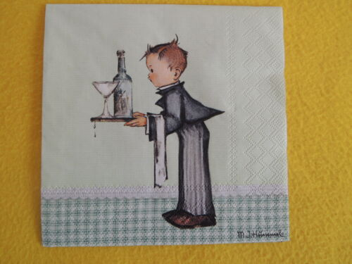 5 serviettes Walter Garçon Enfants Serveur Ober Serviettes technique personnages Hummel