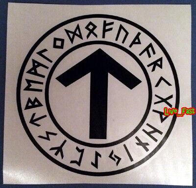Tyr Warrior Rune Vinyl Decal Sticker Asatru Thor Pagan