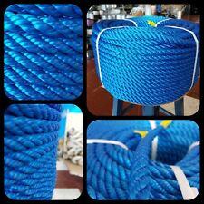 Cordage corde tressée polypropylène 14mm x 100mts nautica grosse corde amarrage