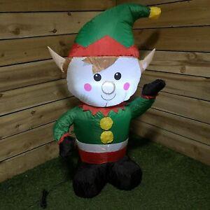 Premier-decorations-1-1M-Inflatable-Indoor-Outdoor-Light-up-Elf-xmas-display