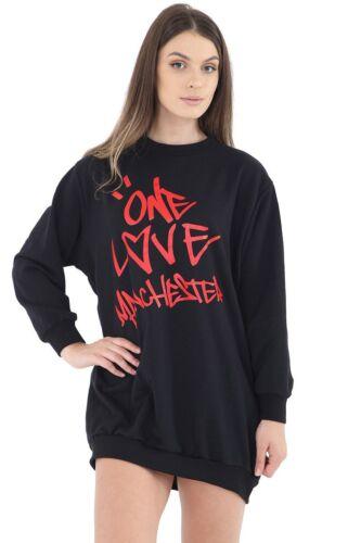 Ladies Celeb Ariana Grande Inspired One Love Manchester Sweatshirt Top Tunic