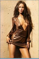 Iconic $4000 Gucci Tom Ford Runway Bronze Gold Mini Dress Celebrity Worn Size XS