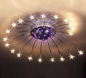 Das Bild Wird Geladen Led Sternenhimmel Farbwechsel Deckenleuchte Deckenlampe Wohnzimmer Fernbedienung