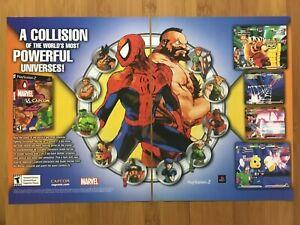 Marvel vs. Capcom 2 PS2 Dreamcast 2000 Print Ad/Poster Official Spider-Man Art