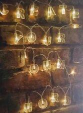 20 Luci LED Stringa Alfabeto Creare il messaggio 54pc CHIARE LETTERE indoor outdoor