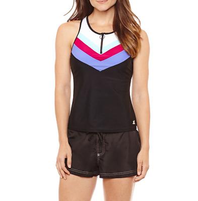12 Zeroxposur Tankini Swimsuit Top Size 10 14 Msrp $49 Cranberry New
