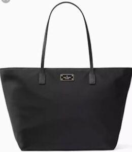Details about New Kate Spade Blake Avenue Margareta Tote WKRU4014 Black  nylon pvc trim Bag