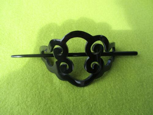 12719 Naturprodukt Büffelhorn Haarschmuck Handarbeit Haarspange