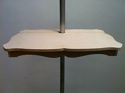 Bell Tent Offset Pole Table - unique - use if bed near pole - Hooked on Glamping
