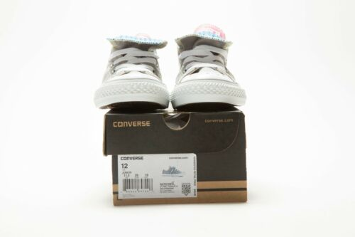 msrp: $40 CONVERSE JUNIOR/'S CHUCK TAYLOR DOUBLE TONGUE OX 647639F GRAY//PINK