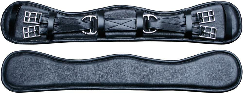 Harry's Horse Dressurgurt comfort fit Sattelgurt Kurzgurt Leder black