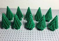 Lego Green Large Pine Tree X10 Bulk Lot For Christmas (4x4x6 2/3)