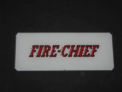 FIRE CHIEF AD GLASS WAYNE 70 FRONT//BACK GLASS