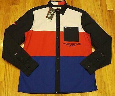 Tommy Hilfiger Herren Colorblock Button Down Langarm Hemd Größe M thespot 917 | eBay