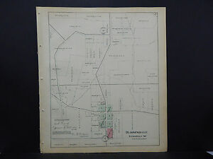 Illinois Du Page County Map C 1904 City Of Bloomingdale L16 49 Ebay