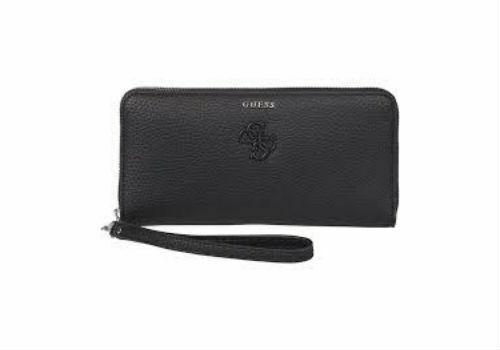 exquisite style innovative design cheap price GUESS Black Wristlet Wallet Clutch Large Zip Around Phone Case Index