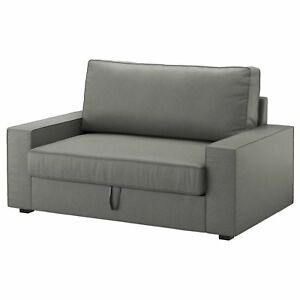 Details about Ikea Vilasund REPLACEMENT COVER SET ONLY 2 seater Sofa Bed  Borred Grey Green