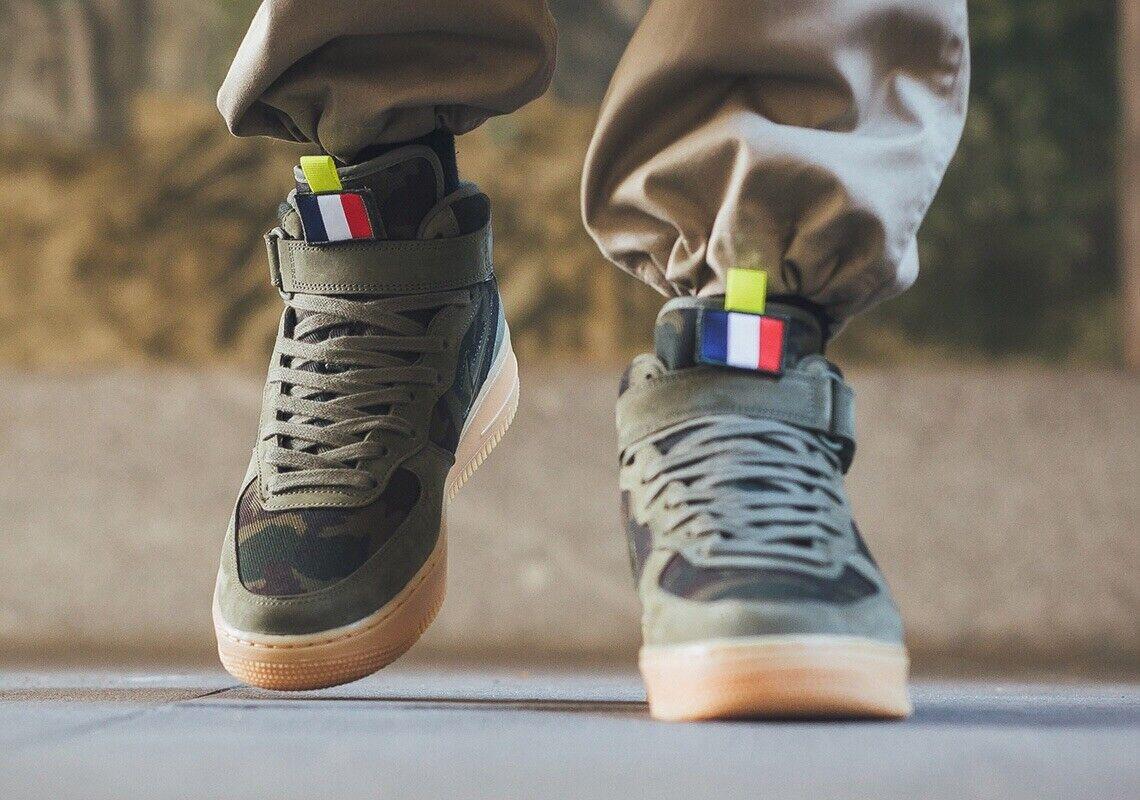 Nike Air Force 1 Jewel Mid 'Country Camo France' Uk Größe 8.5 Eur 43 AV2586-200