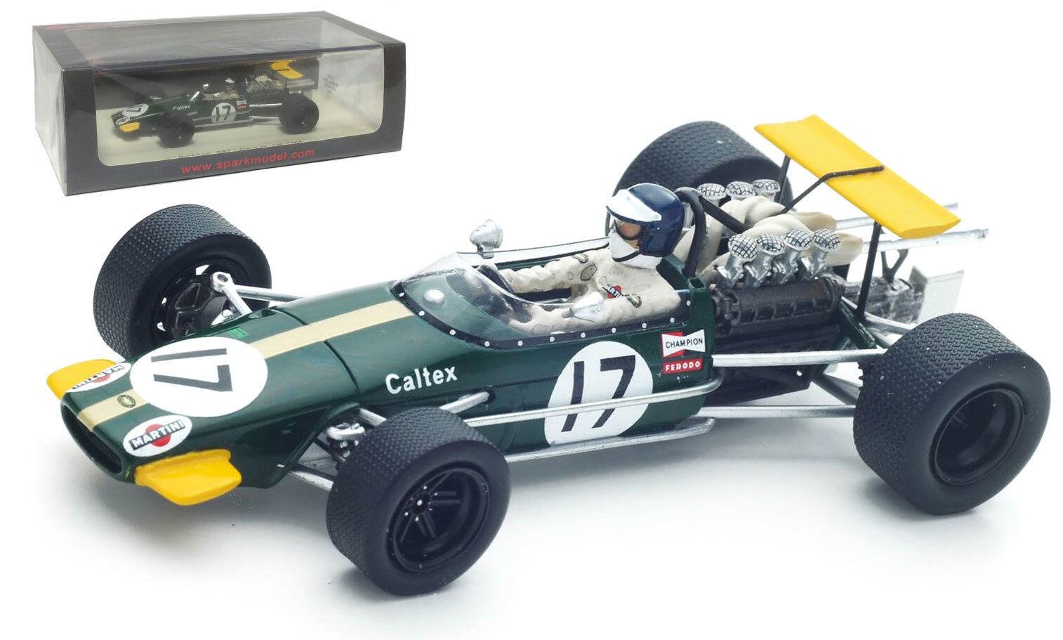 SPARK S4780 Brabham BT24  17 German GP 1968-Kurt Ahrens échelle 1 43