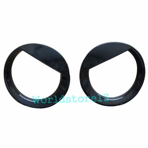 Pair Angry Bird Style Front Headlight Lamp Cover Trim for 2011-2017 Jeep Patriot