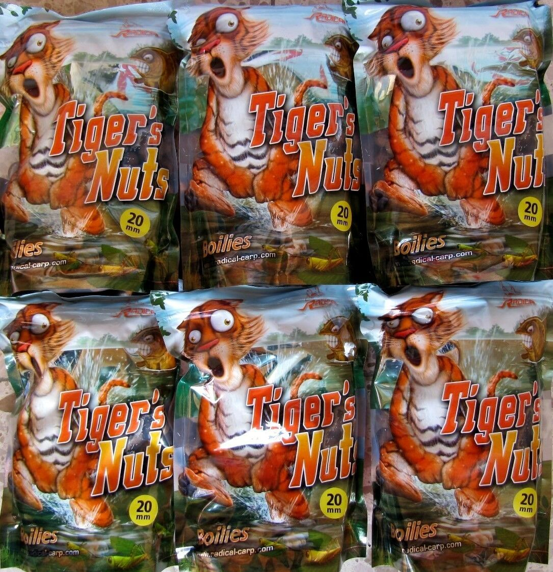 6kg Quantum Radical Tiger `s nuts BOILIE Tigernuss 20mm Köder Boilies Lockfutter