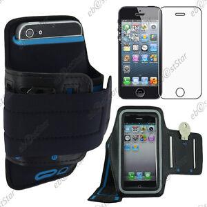 Housse-Coque-Etui-Brassard-Sport-Armband-Noir-Apple-iPhone-SE-5S-5-Verre