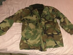 US Army Camouflage Overgarment Coat Jacket Chemical Protective NFR Medium Long