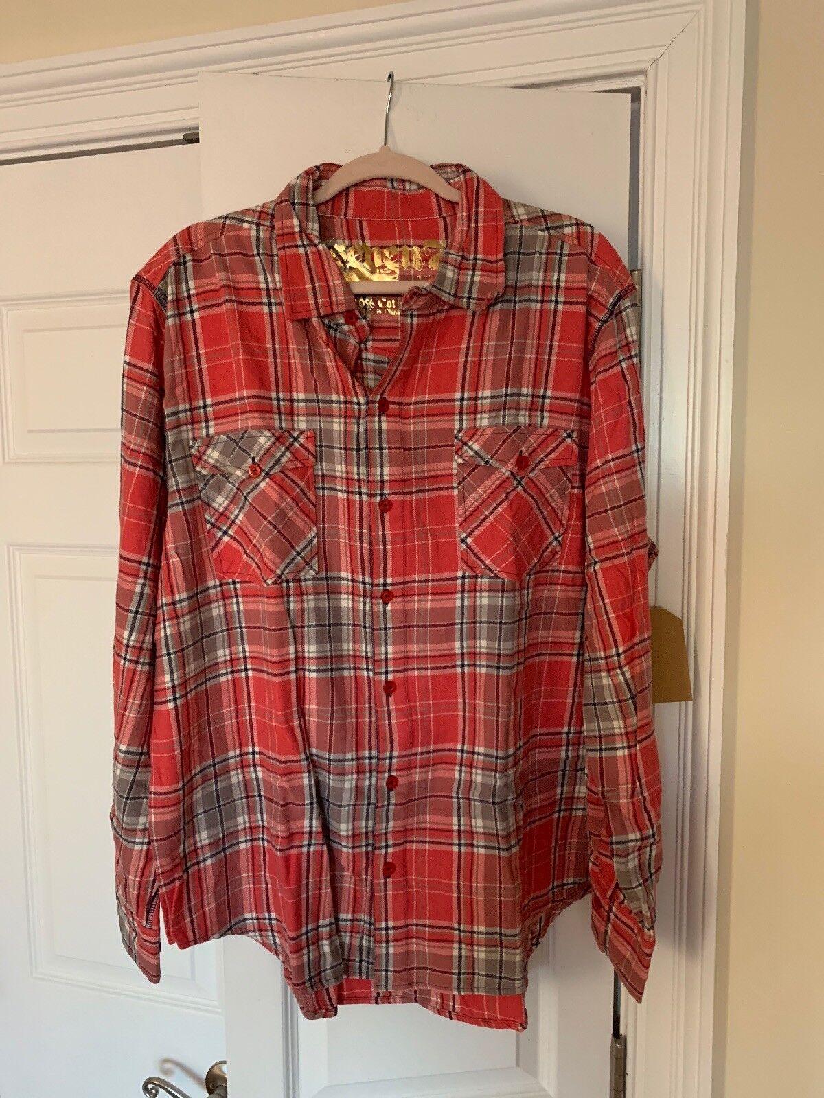 Seven7 Men Plaid Shirt Size XL