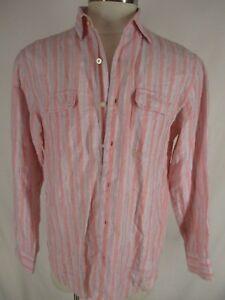 2d457fd4705f Image is loading Tommy-Bahama-Mens-Pink-Stripe-Long-Sleeve-Linen-