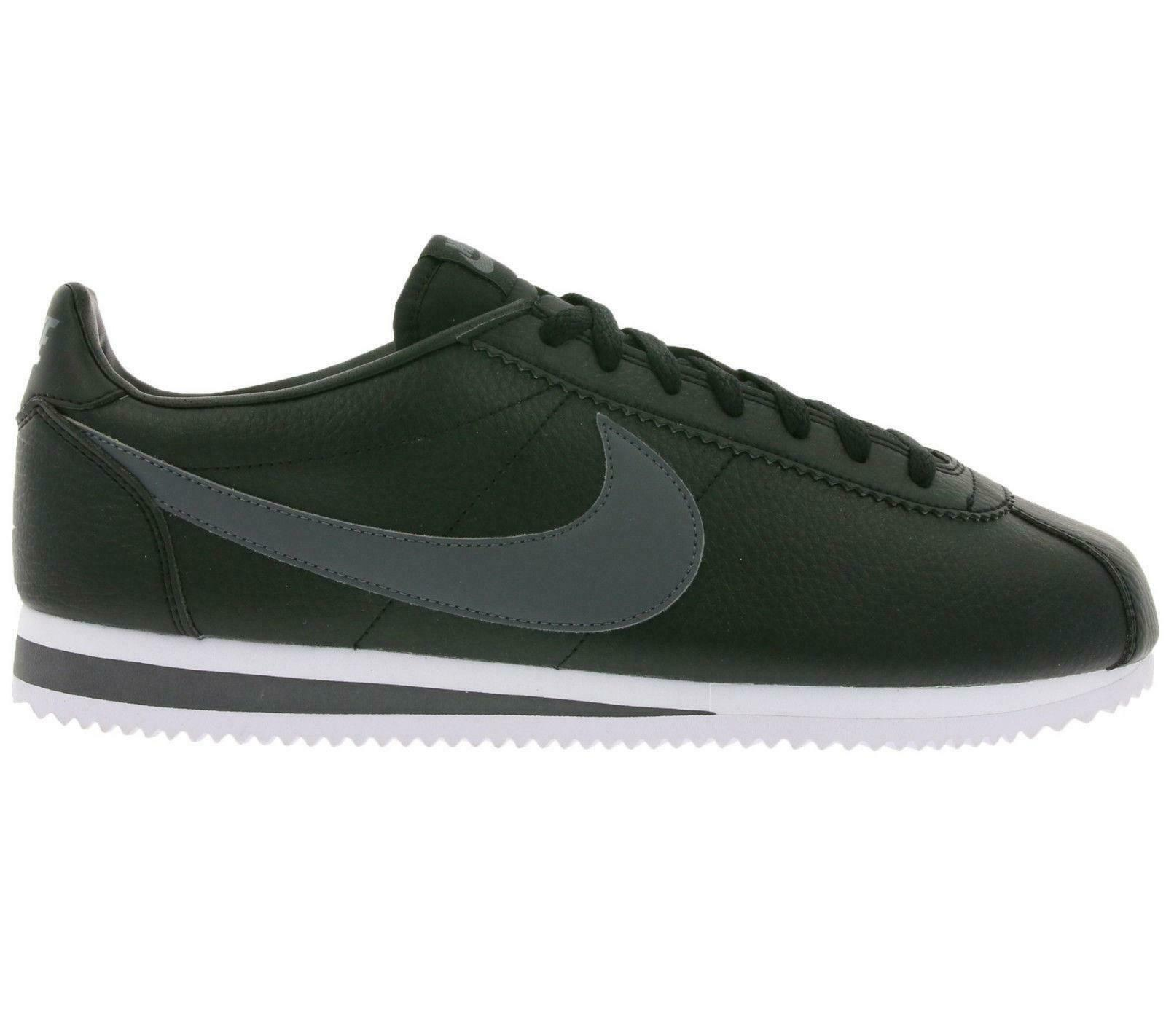 40416605682 Mens NIKE CORTEZ LEATHER Black 749571 011 Trainers CLASSIC ...