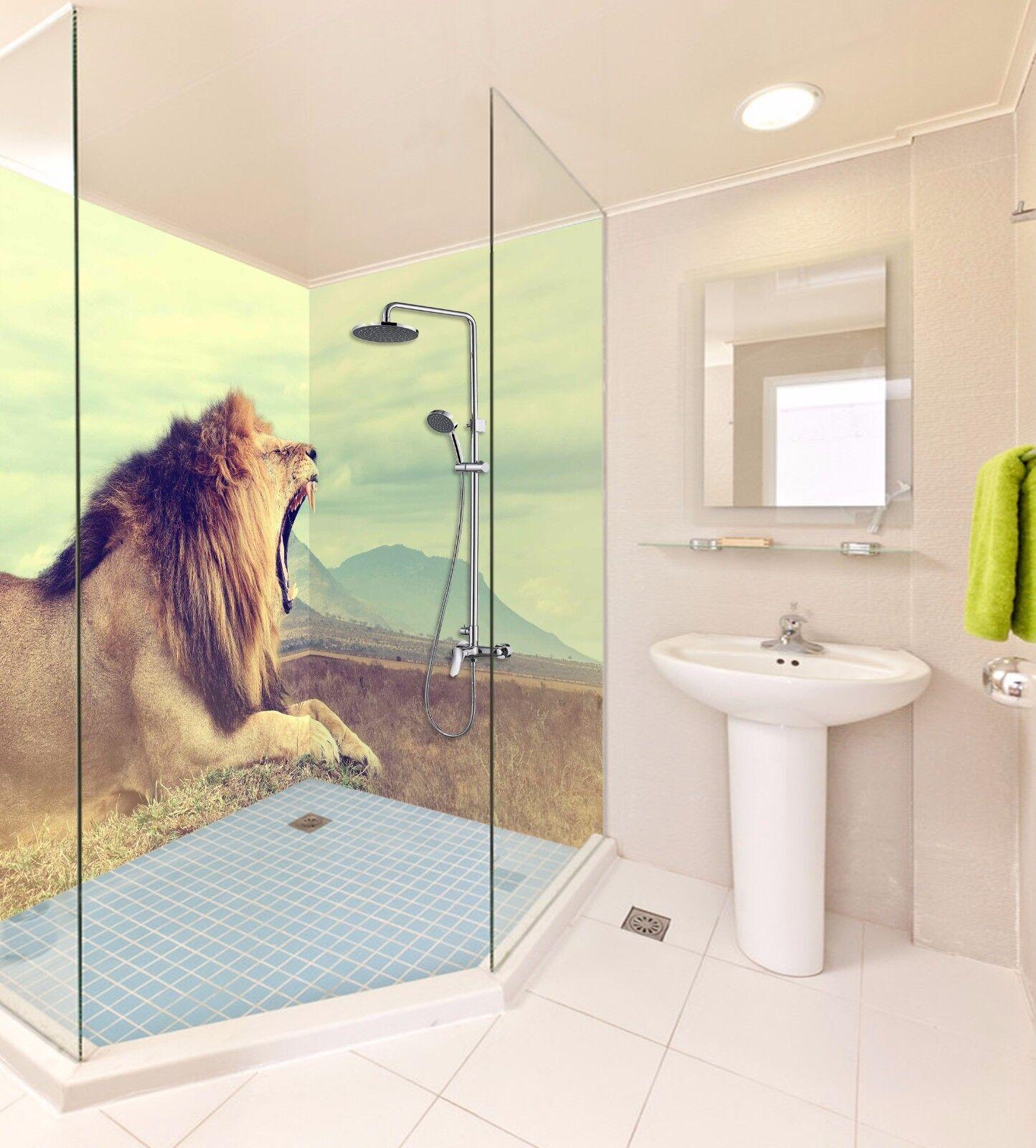 3D Lion roar sky 534 WallPaper Bathroom Print Decal Wall Deco AJ WALLPAPER UK