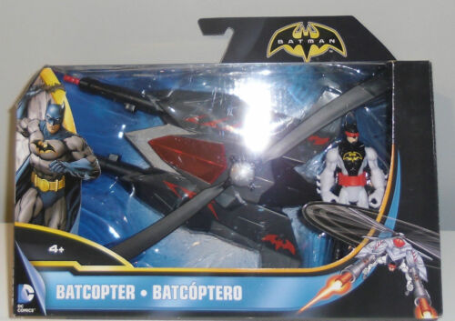 Batman Batcopter DC Comics Rotating Heli -Blades Helicopter W/ 4 Action Figure