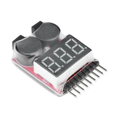 Lipo Alarm Piezo Tester Low Voltage Buzzer Checker Warner Li Akku Saver DRP U5G3