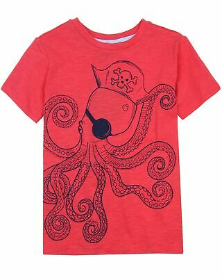 Sizes 5-12 Deux par Deux Boys/' Printed T-shirt in Red Boombox