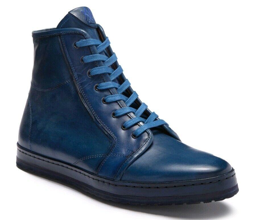 Nuevo mezlan Rino Alta Top, Cuero Azul Real, Talla 8.5 para Hombres  395, hecho en España