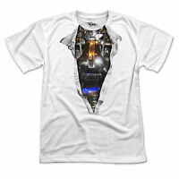 S - 3XL > Ripped Chest Effect T-shirt > TERMINATOR Skynet Robot Android Soldier